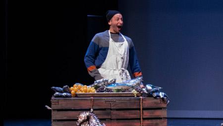 Spectacle clown. Le poissonnier. Théâtre du Passage.