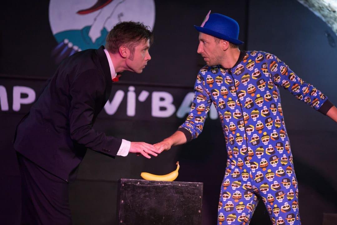 Duo de clown improvisé - Flavien Renaud et Caspar Schelpbred.